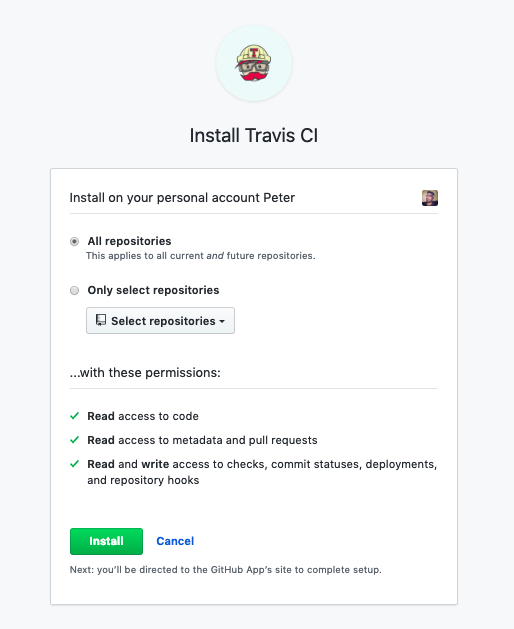 install-travis-github-app